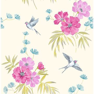 Picture of Riva Magenta Floral Wallpaper