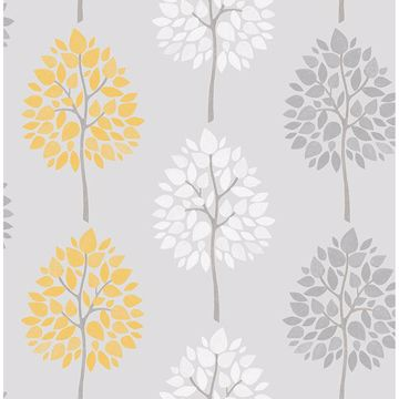 Picture of Alder Grey Tree Wallpaper
