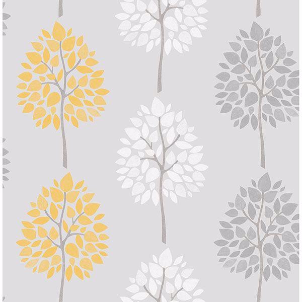 Picture of Alder Grey Tree Wallpaper