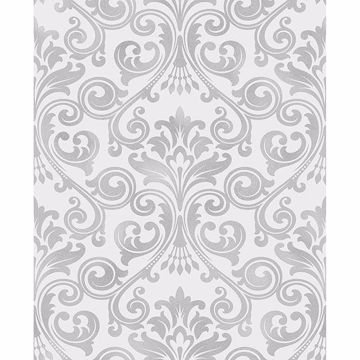 Picture of Wentworth Grey Damask Wallpaper