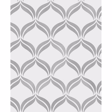 Picture of Wentworth Geo Grey Ogee Wallpaper