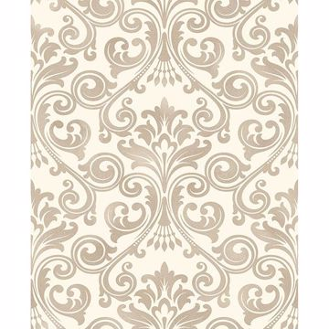 Picture of Wentworth Beige Damask Wallpaper