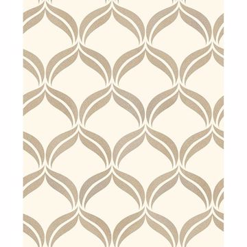 Picture of Wentworth Geo Beige Ogee Wallpaper