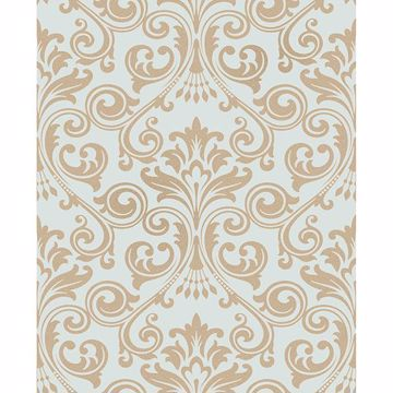 Picture of Wentworth Blue Damask Wallpaper