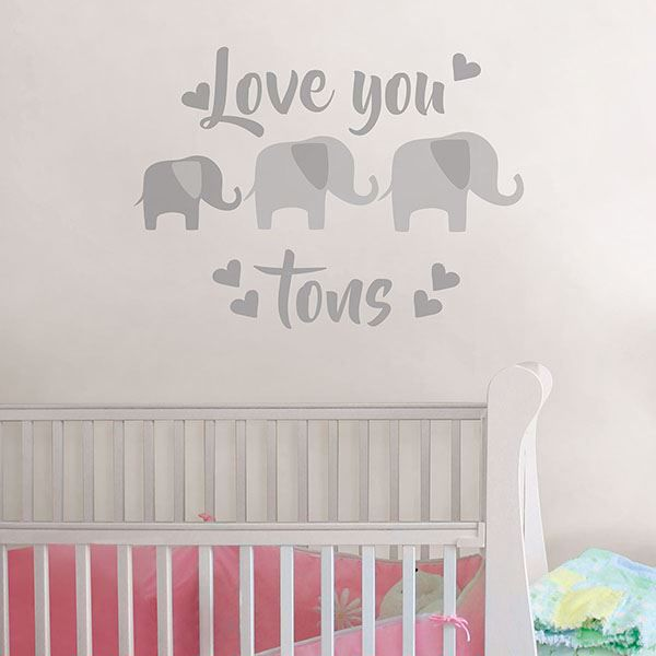 Picture of Love You Tons Wall Quote Decals
