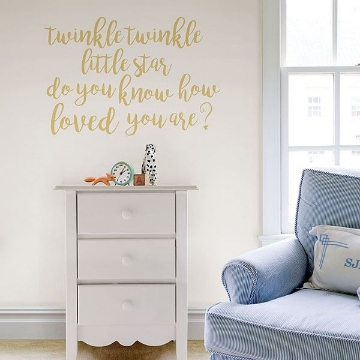 Picture of Twinkle Little Star Wall Quote Decals