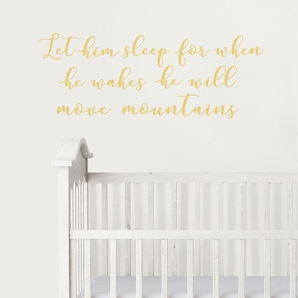 Picture of Move Mountains Wall Wish Wall Quote Decals