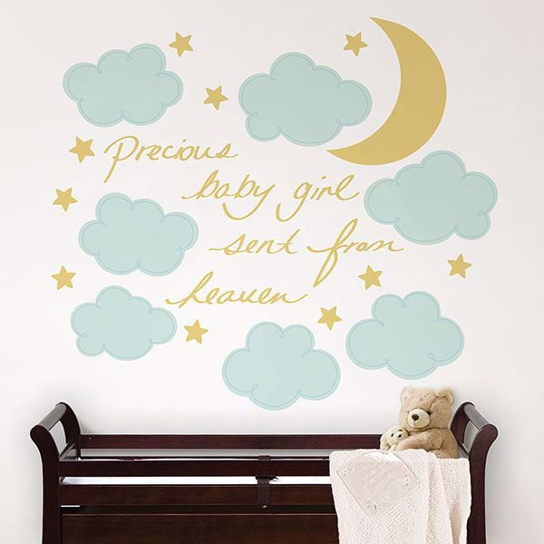Picture of Sent From Heaven Wall Quote Decals