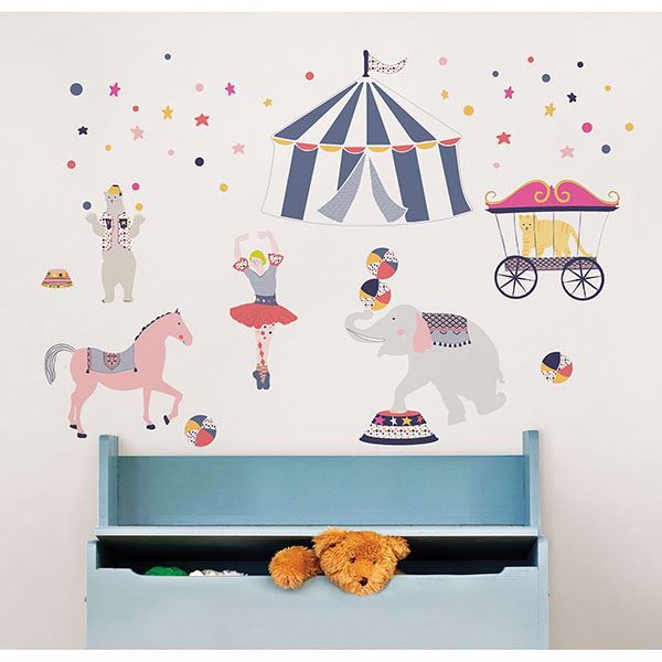 Picture of Three Ring Circus Wall Art Kit