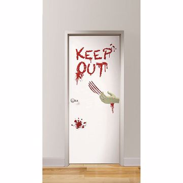 Picture of Zombies Inside Door Decal