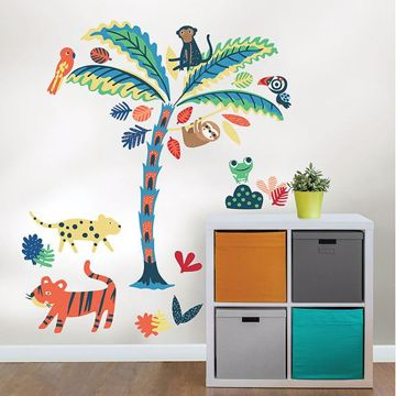 Picture of Tropical Rainforest Friends Wall Art Kit