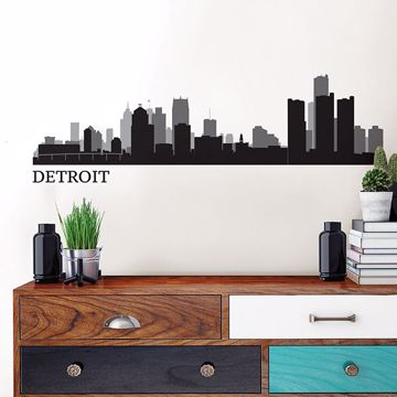 Detroit Cityscape Wall Art Kit