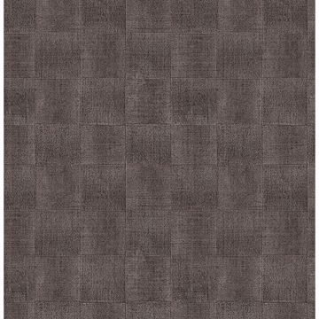 Picture of Larue Brown Block Wallpaper