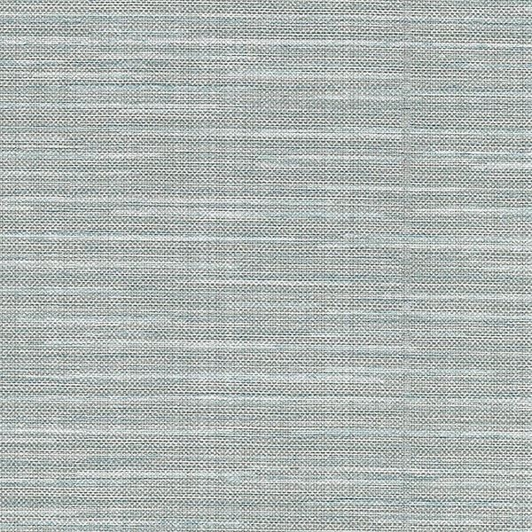 Picture of Bay Ridge Blue Faux Grasscloth Wallpaper