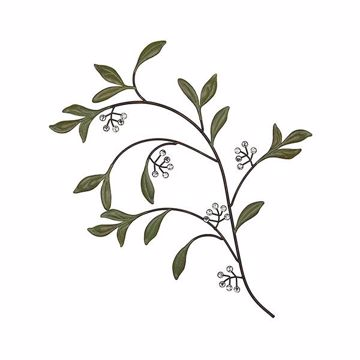 Picture of Ellie Berry Branch Metal Wall Art