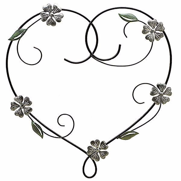 Picture of Doris Floral Heart Metal Wall Art