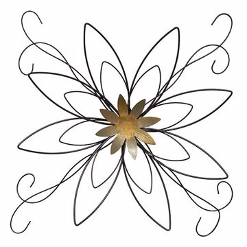 Picture of Fiesta Bronze Floral Metal Wall Art