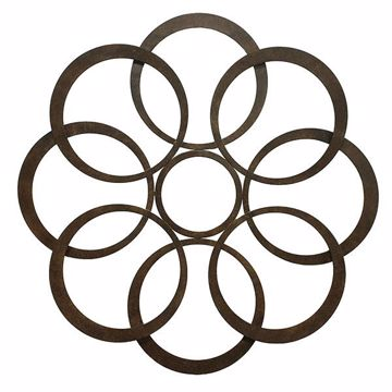 Picture of Sarah Bronze Circle Metal Wall Art