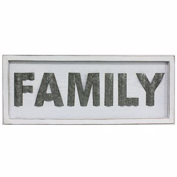 Picture of Family White Rustic Sign