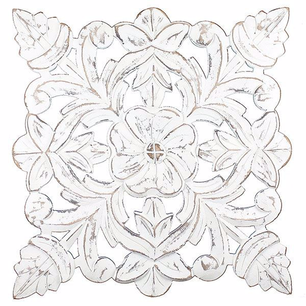 Picture of Toan White Carved Medallion