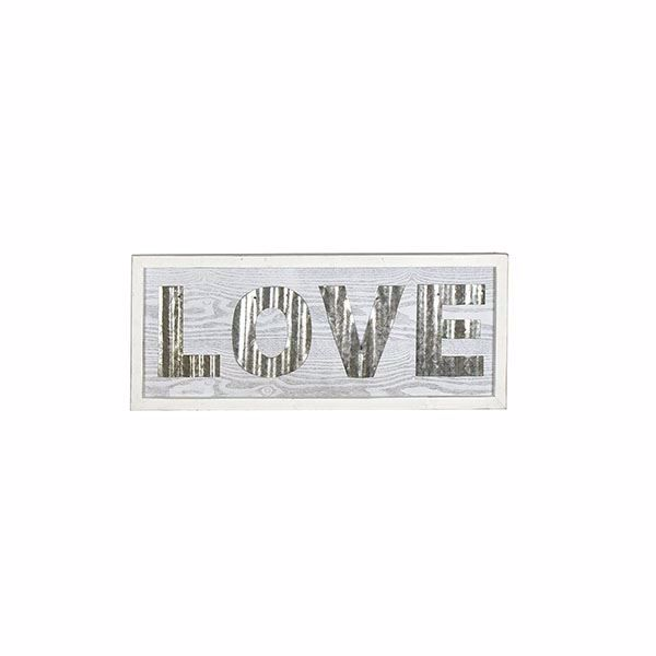 Picture of Love Small White Rustic Sign
