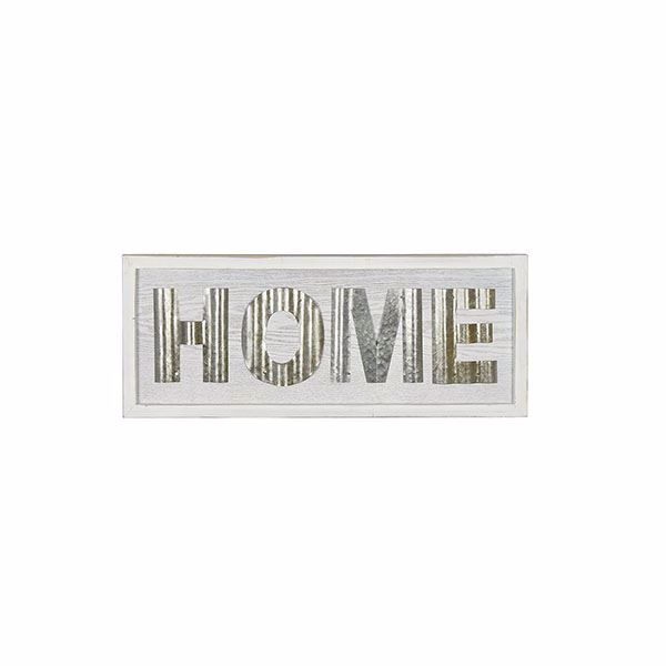 Picture of Home White Rustic Sign