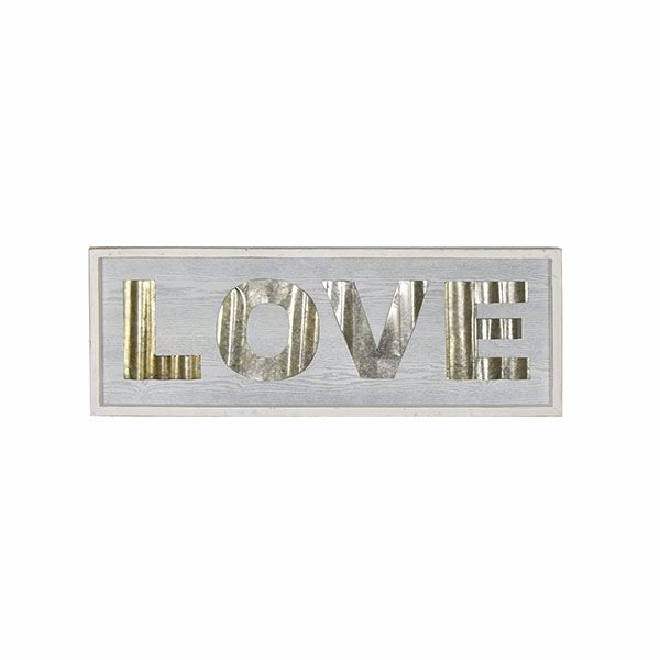 Picture of Love Large White Rustic Sign