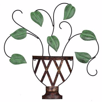 Picture of Lillian Planter Metal Wall Art