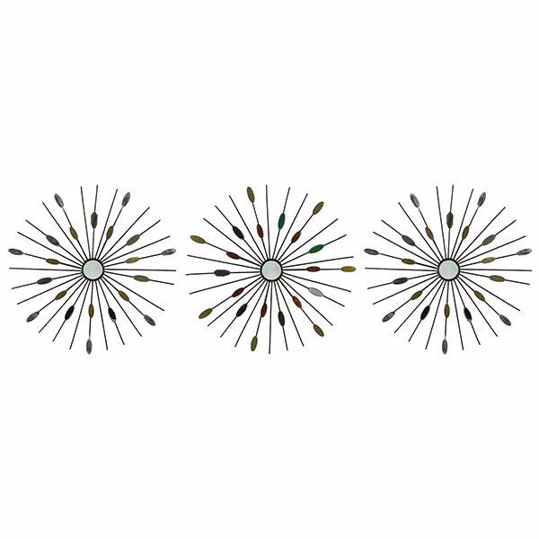Picture of Brinly Mirrored Copper Starburst Wall Art