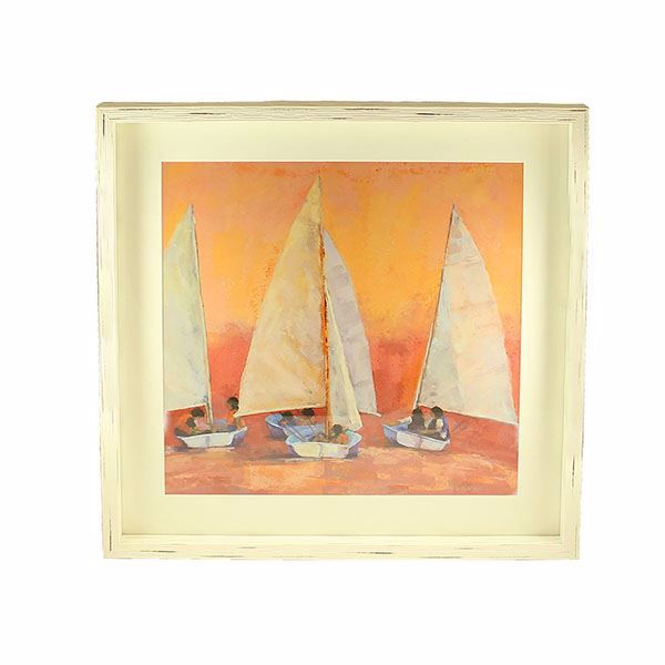 Picture of Milukas Sailboats Framed Print