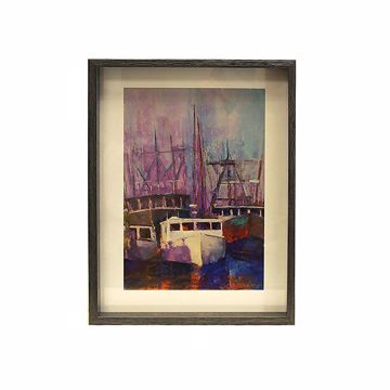 Picture of Milukas Harbor Framed Print