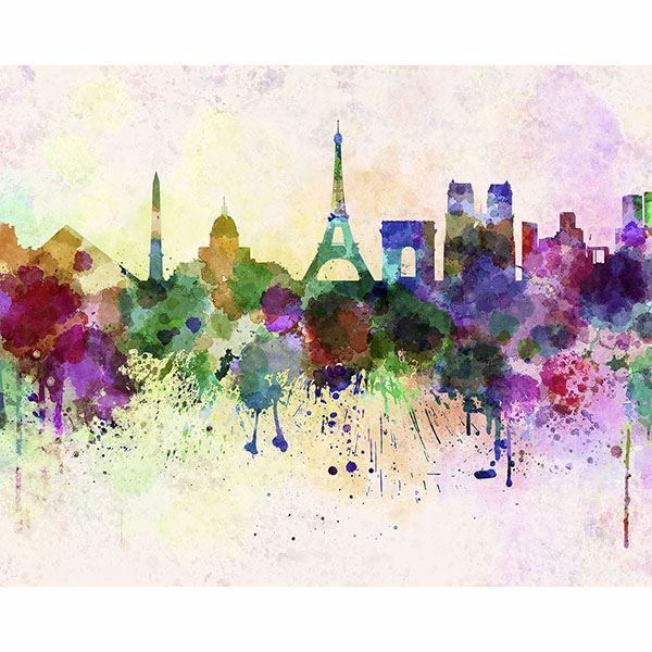 Picture of Paris Skyline Wall Mural