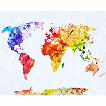 Picture of World Map Wall Mural