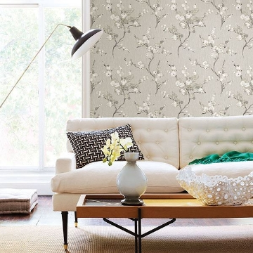 Picture of Bliss Taupe Blossom Wallpaper