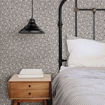 Picture of Bento Grey Geometric Wallpaper