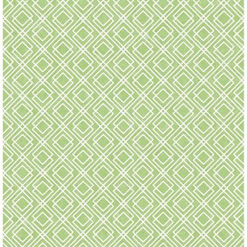 Picture of Napa Green Geometric Wallpaper