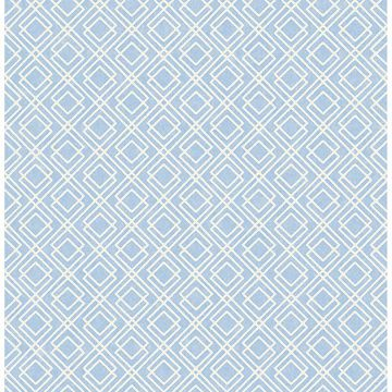 Picture of Napa Blue Geometric Wallpaper