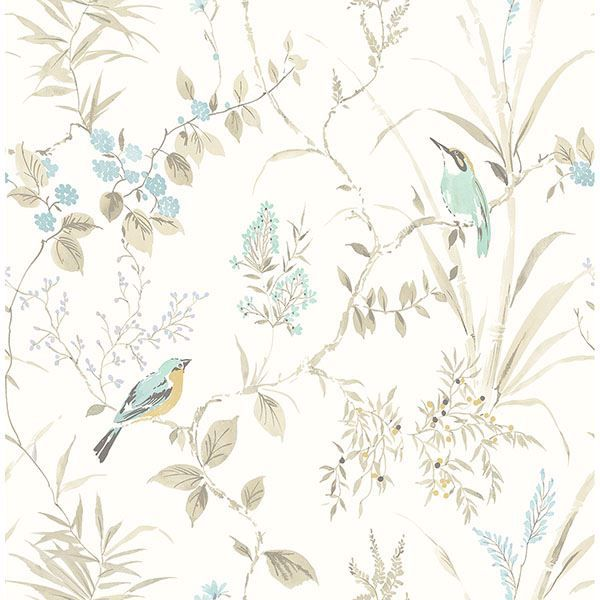 Picture of Imperial Garden Beige Botanical Wallpaper