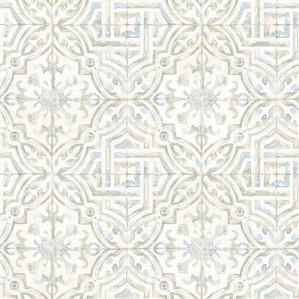Picture of Sonoma Taupe Spanish Tile Wallpaper