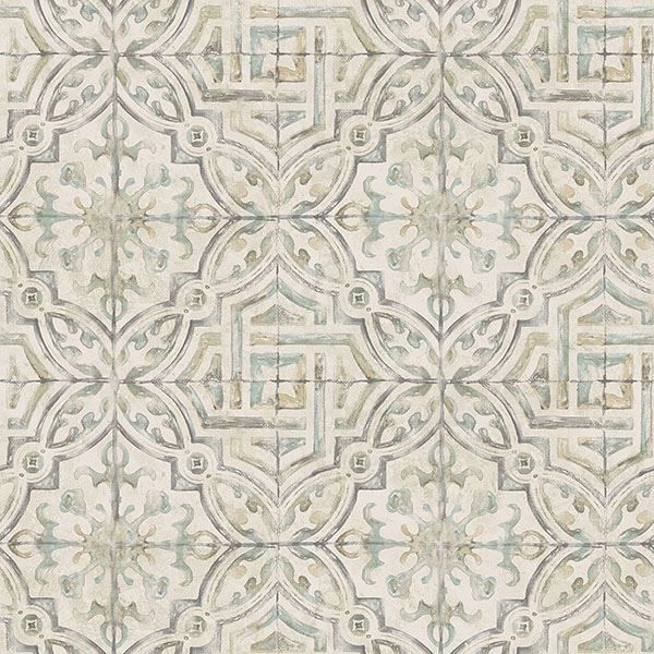 Picture of Sonoma Olive Spanish Tile Wallpaper