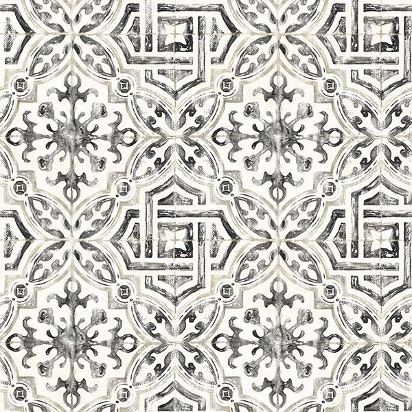Picture of Sonoma Black Spanish Tile Wallpaper