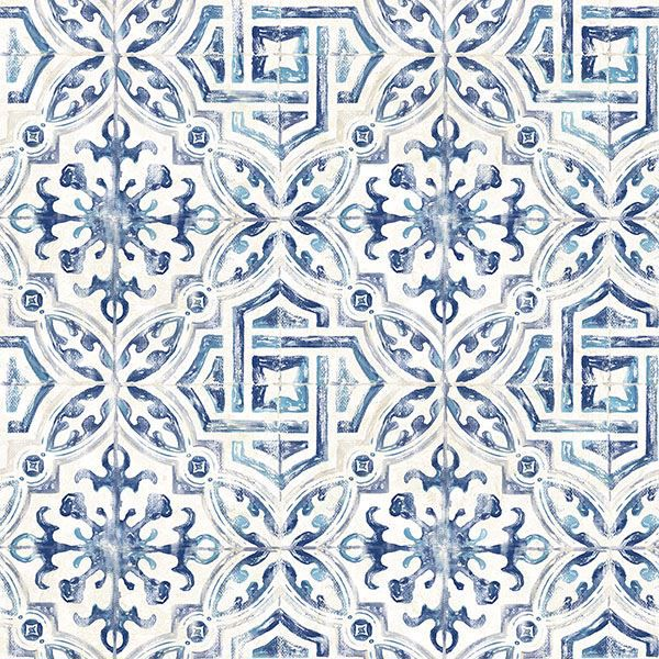 Picture of Sonoma Blue Spanish Tile Wallpaper