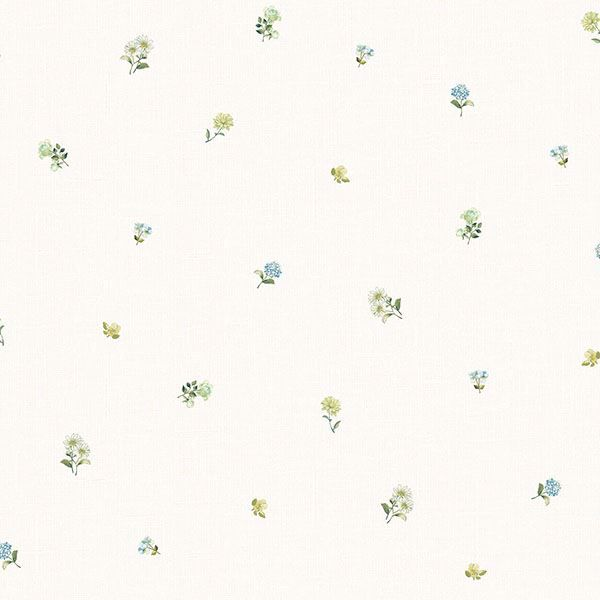 Picture of Bloom Toss Blue Floral Wallpaper