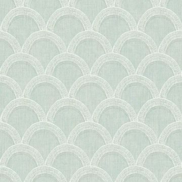 Picture of Bixby Turquoise Geometric Wallpaper