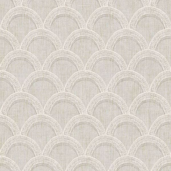 Picture of Bixby Grey Geometric Wallpaper