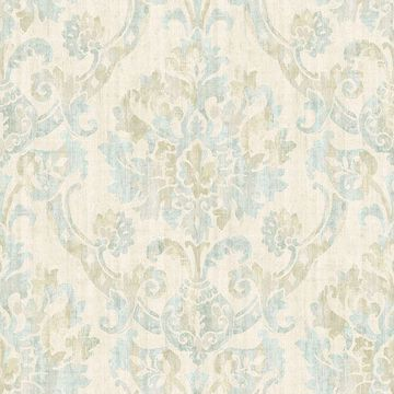 Picture of Shasta Taupe Damask Wallpaper