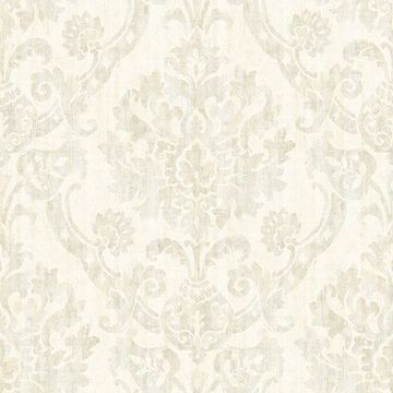 Picture of Shasta Beige Damask Wallpaper