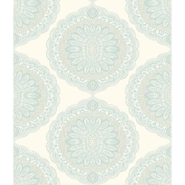 Picture of Bolinas Aquamarine Medallion Wallpaper