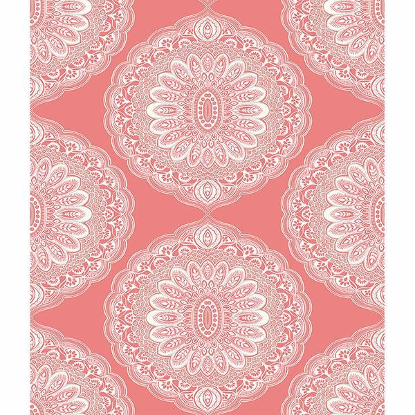 Picture of Bolinas Coral Medallion Wallpaper