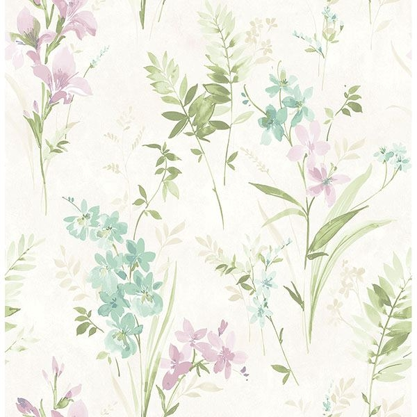 Picture of Henrietta Multicolor Floral Wallpaper